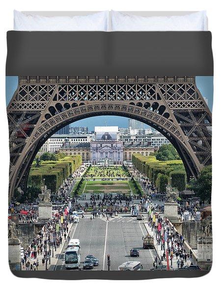 Eiffel Tower Paris Duvet Cover
