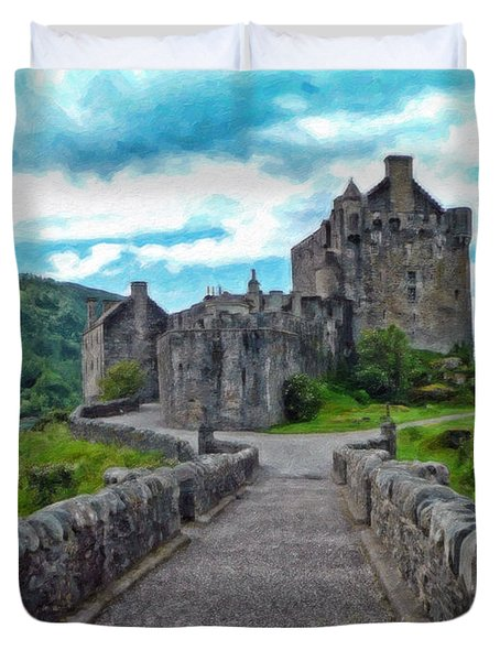 Eilean Donan Castle - -sct665549 Duvet Cover