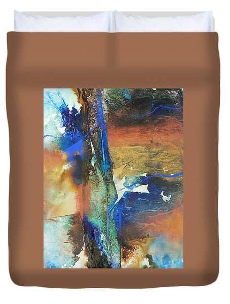 Electric And Warm Duvet Cover by Becky Chappell