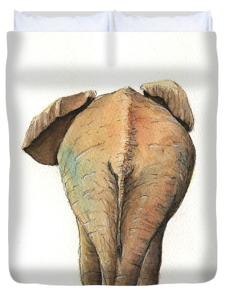 Elephant Back Duvet Cover