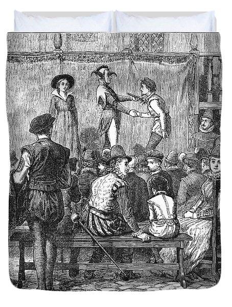 Elizabethan Theatre Duvet Cover by Granger