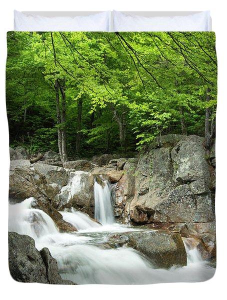 Ellis River Waterfall Duvet Cover