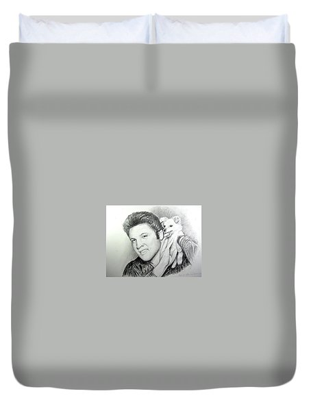 Elvis And Sweet-pea Duvet Cover