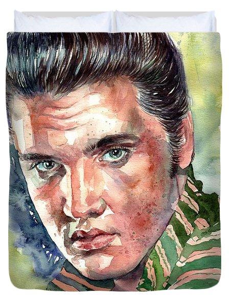 Elvis Presley Portrait Duvet Cover