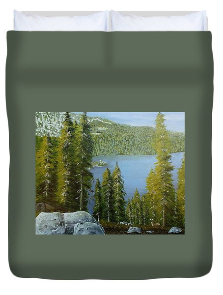 Emerald Bay - Lake Tahoe Duvet Cover by Mike Caitham