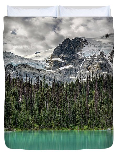 Emerald Reflection Duvet Cover