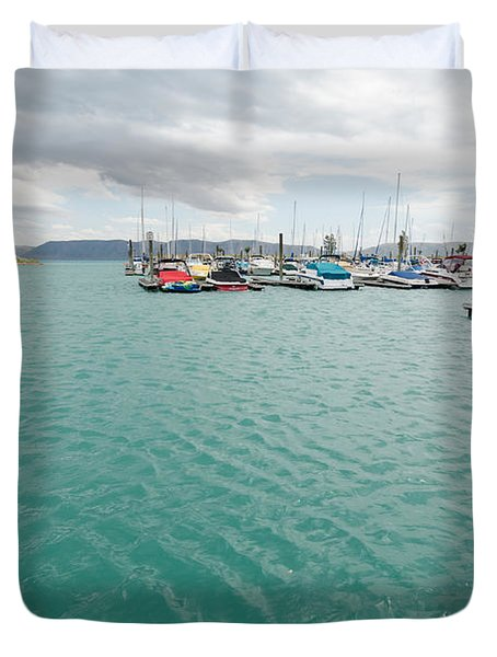 Emerald Waters Duvet Cover