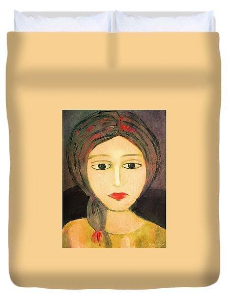Duvet Cover featuring the digital art Emma by Lisa Noneman