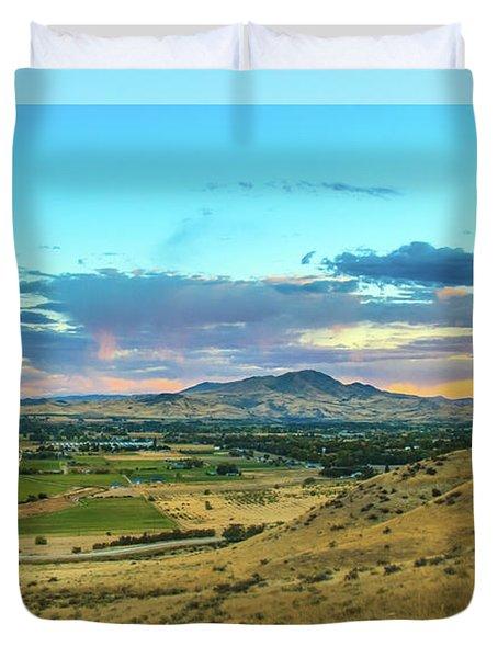 Duvet Cover featuring the photograph Emmett Valley by Robert Bales