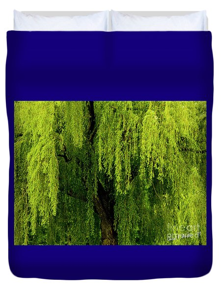 Enchanting Weeping Willow Tree  Duvet Cover