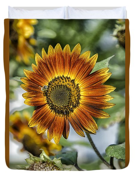 End Of Sunflower Season Duvet Cover