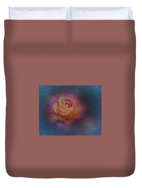 Duvet Cover featuring the photograph End Of September 2016 Rose by Richard Cummings