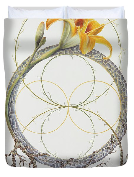 Energy Of The Tigerlily Duvet Cover
