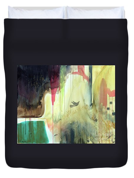 Duvet Cover featuring the painting Envisage by Robin Maria Pedrero