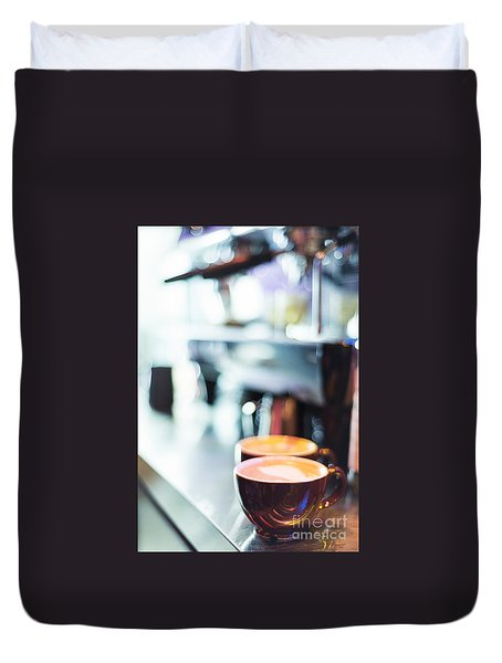 Espresso Expresso Italian Coffee Cup With Machine  Duvet Cover
