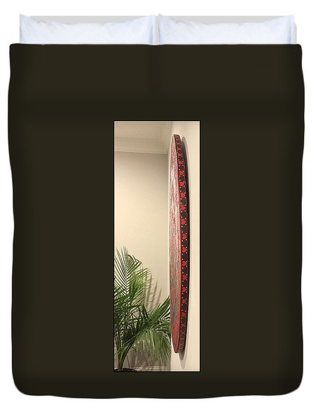 Duvet Cover featuring the painting Eternal Hearts by James Lanigan Thompson MFA