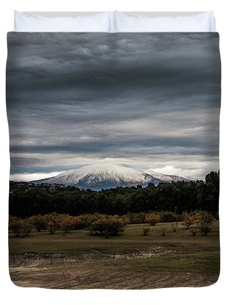 Etna, The West Side Duvet Cover