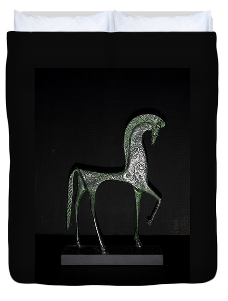 Etruscan Horse Duvet Cover by Stephanie Moore