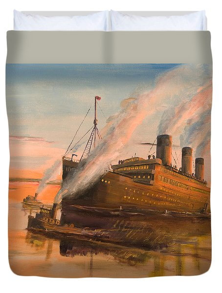 Evening Departure Duvet Cover by Christopher Jenkins
