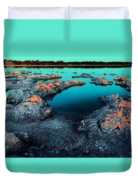 Evening In Lake Walyungup Duvet Cover