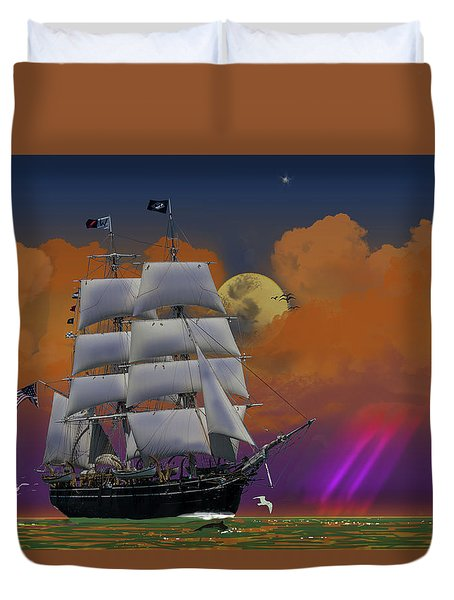 Evening Return For The Elissa Duvet Cover by J Griff Griffin