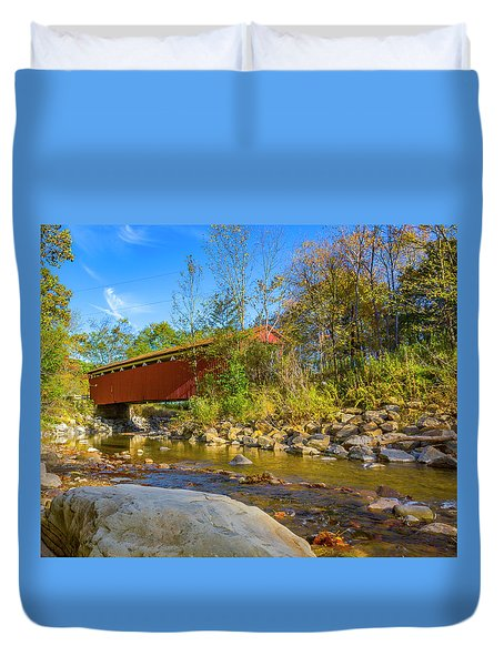 Everett Covered Bridge  Duvet Cover