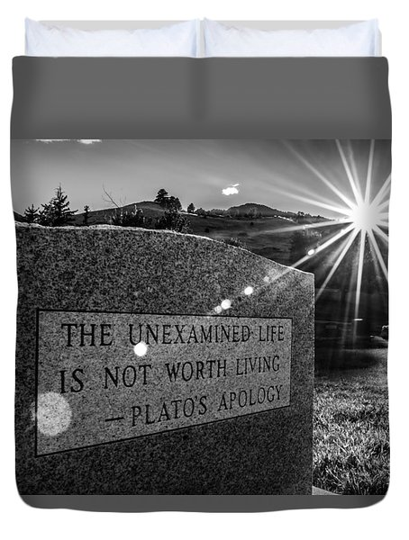Examined Life Duvet Cover