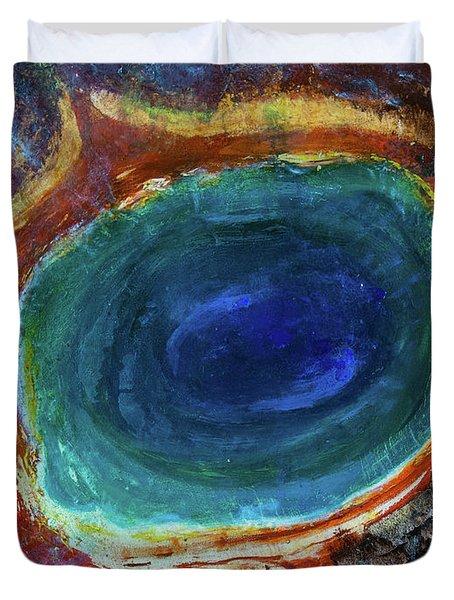 Eye Into The Earth Duvet Cover