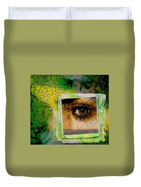 Duvet Cover featuring the digital art Eye, Me, Mine by Richard Ricci