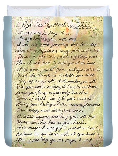 My Healing Tree Poem Duvet Cover