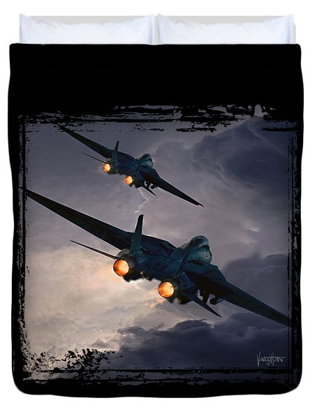 F-14 Flying Iron Duvet Cover