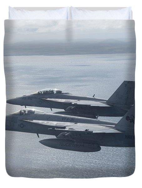 Fa-18e Super Hornets Duvet Cover