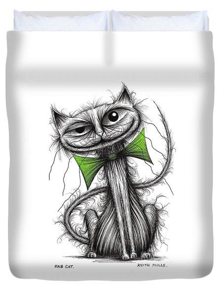 Fab Cat Duvet Cover