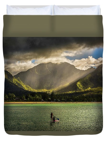 Facing The Storm Duvet Cover