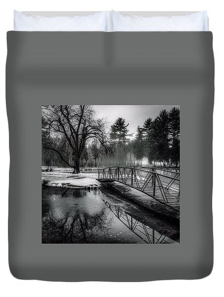 Duvet Cover featuring the photograph Fade To Black by Kendall McKernon