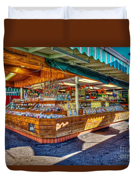Fairfax Farmers Market Duvet Cover by David Zanzinger