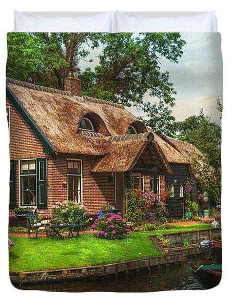 Fairytale House. Giethoorn. Venice Of The North Duvet Cover