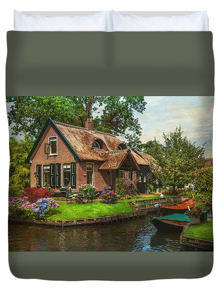 Fairytale House. Giethoorn. Venice Of The North Duvet Cover
