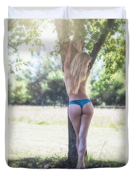 Duvet Cover featuring the photograph Faith by Traven Milovich
