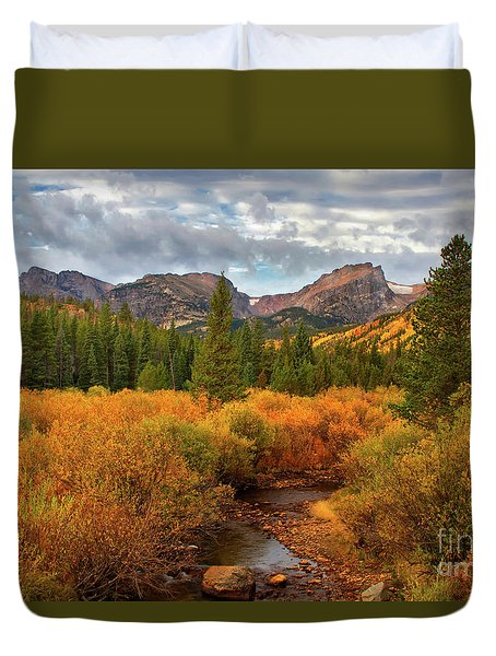 Fall In Rocky Mountain National Park Duvet Cover