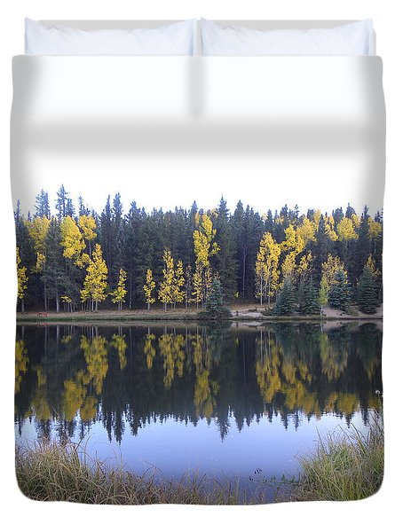 Potty Pond Reflection - Fall Colors Divide Co Duvet Cover