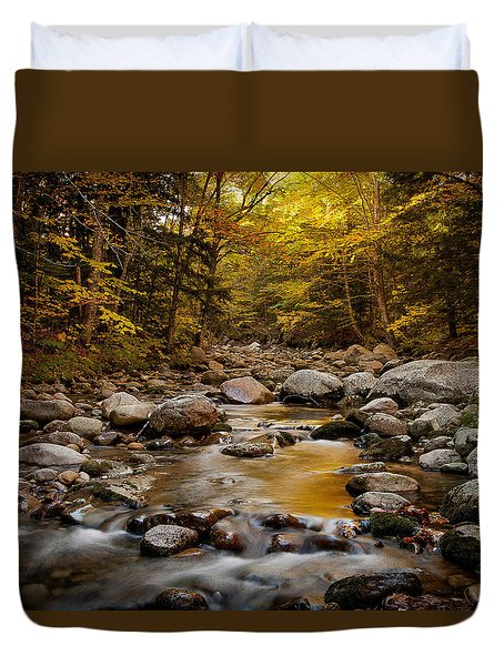 Fall On The Gale River Duvet Cover