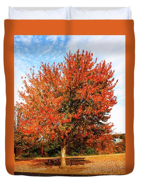Fall Time Duvet Cover