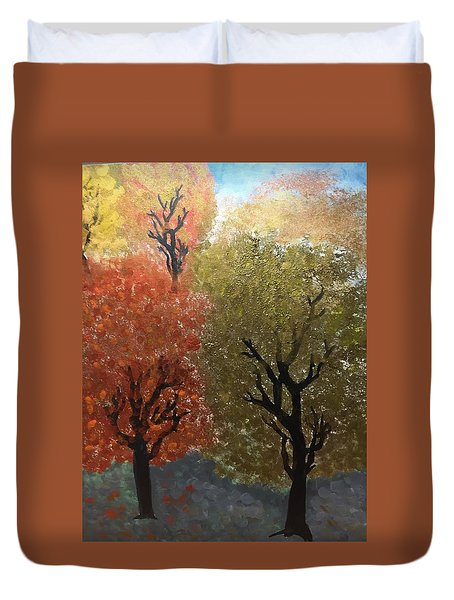Fall Trees Duvet Cover