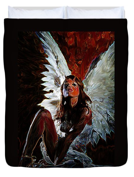 Fallen Angel Duvet Cover