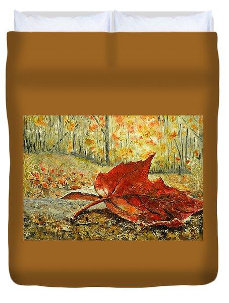 Fallen Leaf  Duvet Cover by Betty-Anne McDonald