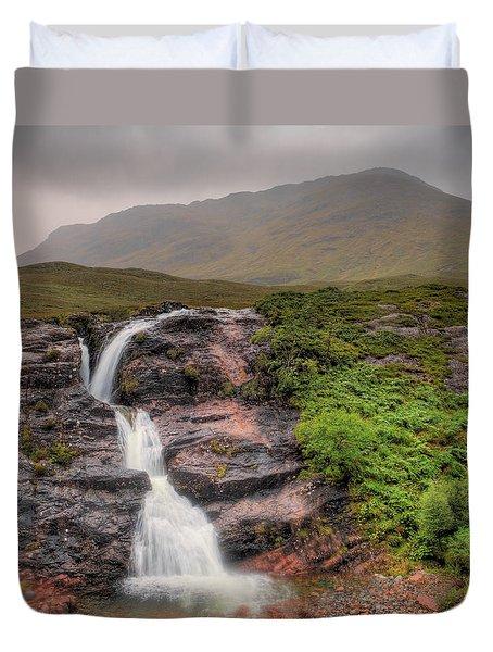 Falls Of Glencoe Duvet Cover by Ray Devlin