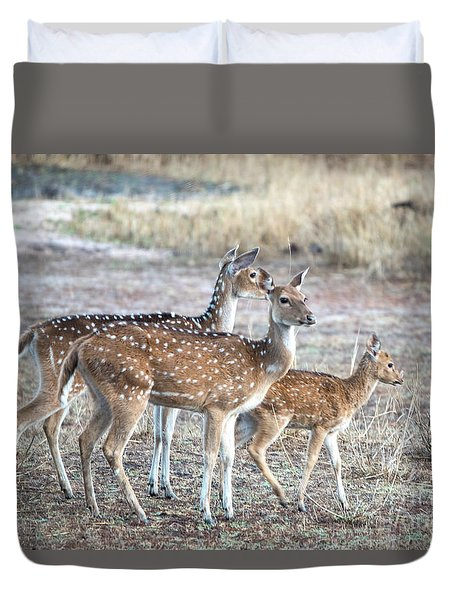 Family Outing Duvet Cover