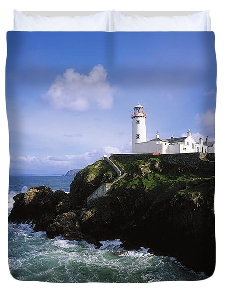 Fanad Lighthouse, Co Donegal, Ireland Duvet Cover