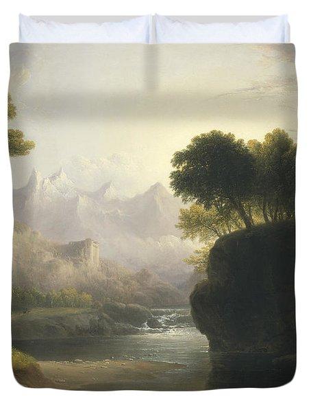 Fanciful Landscape Duvet Cover
